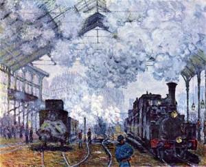Клод Моне «Вокзал Сен- Лазар» в Париже. 1877
