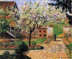 Камиль Писсаро. Украшающее цветами Сливовое Дерево. 1894 год.