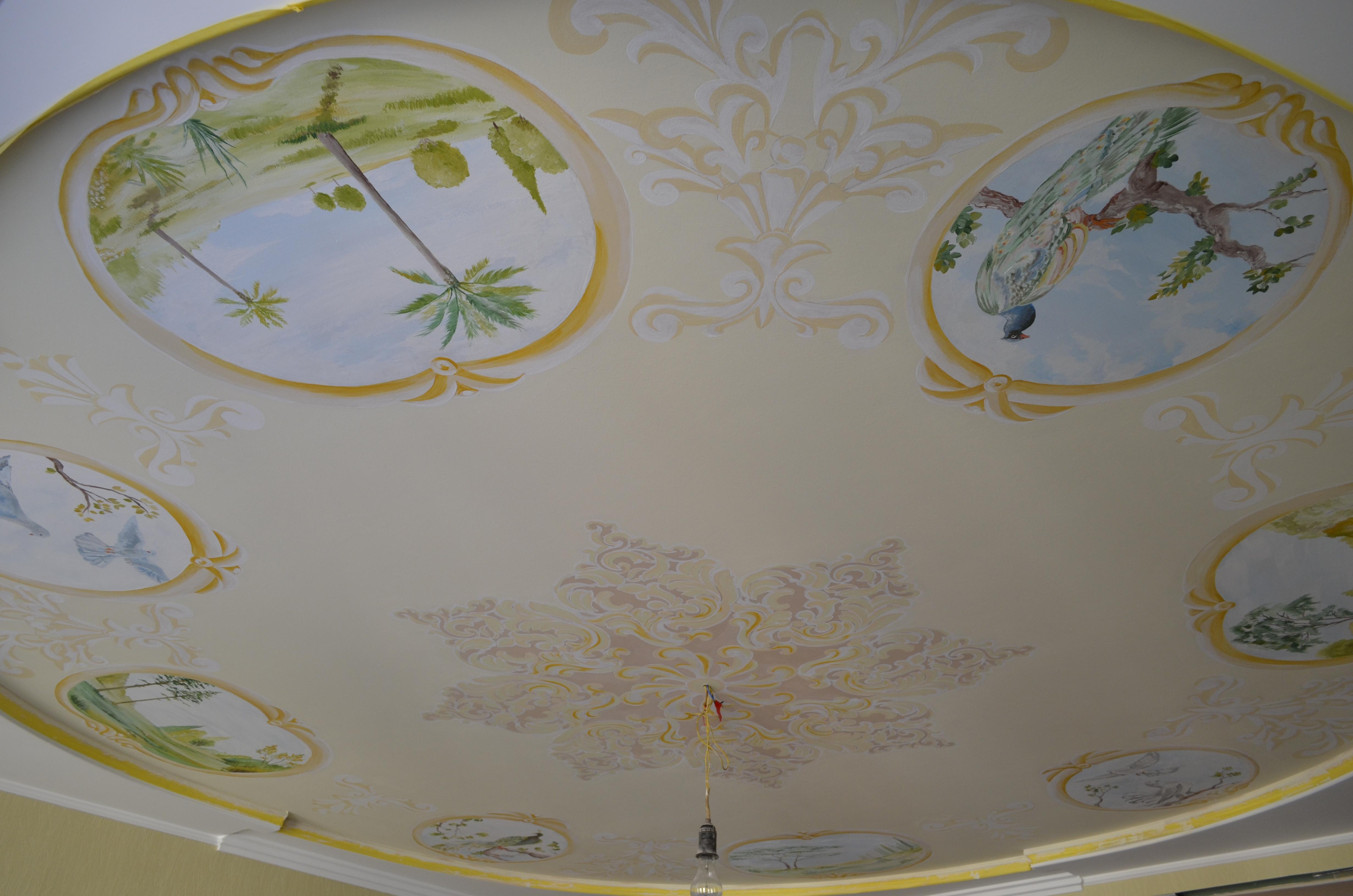 потолок в художественной росписи