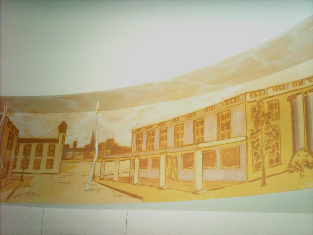 Художественная роспись под потолком
