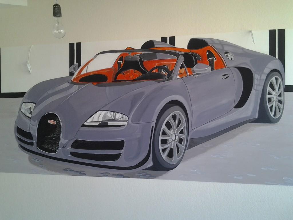 нарисовать машину на стене