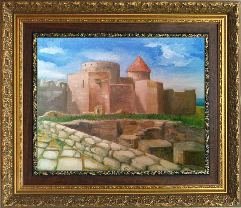 Картина крепость, архитектура, урбанизм.
