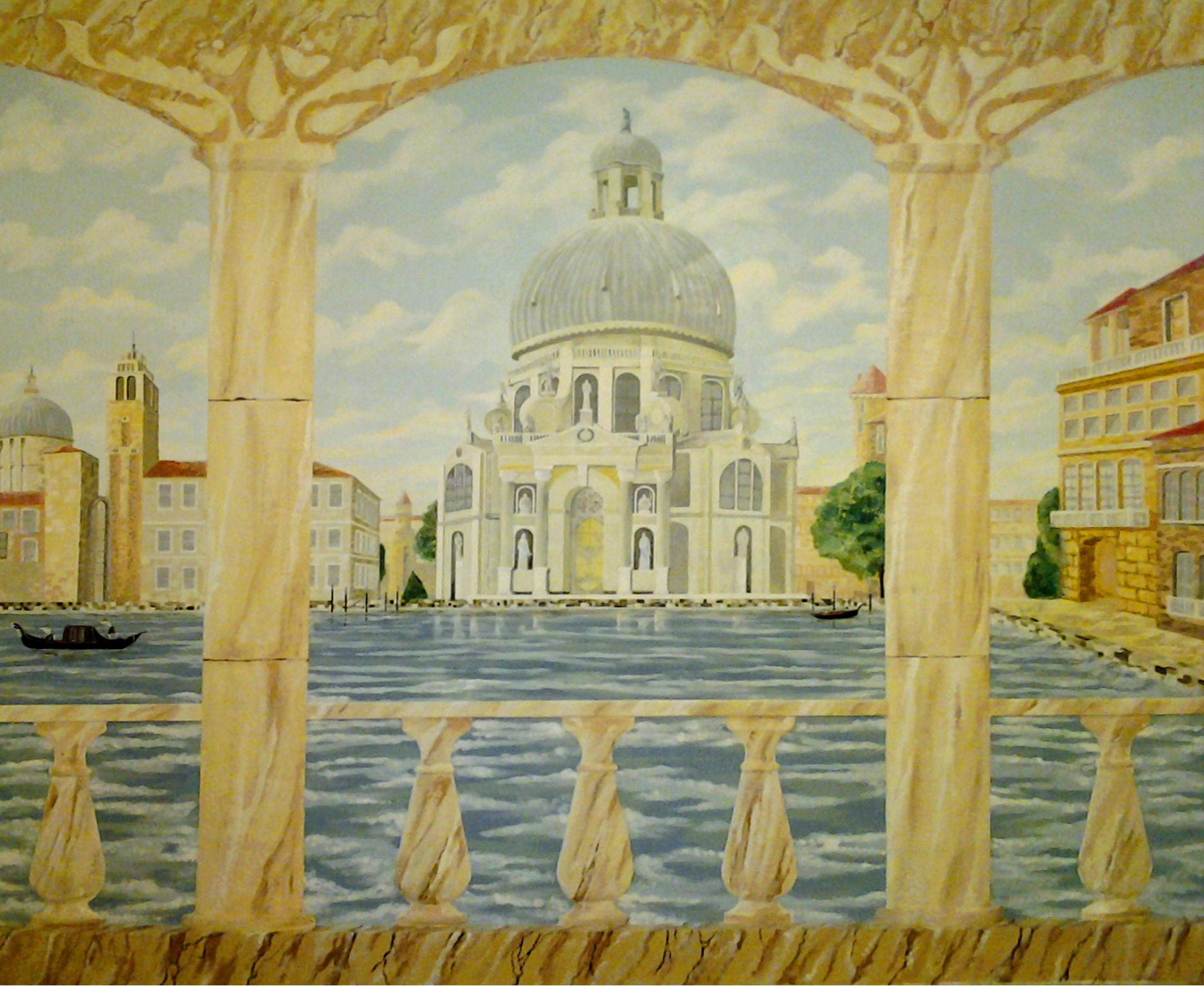 Венецианский собор Санта Мария делла Салуте роспись стен, роспись потолка, витраж.