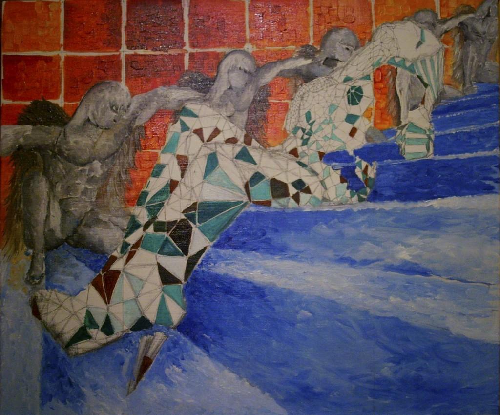 Авангард, современное искусство, роспись стен, роспись на холстах