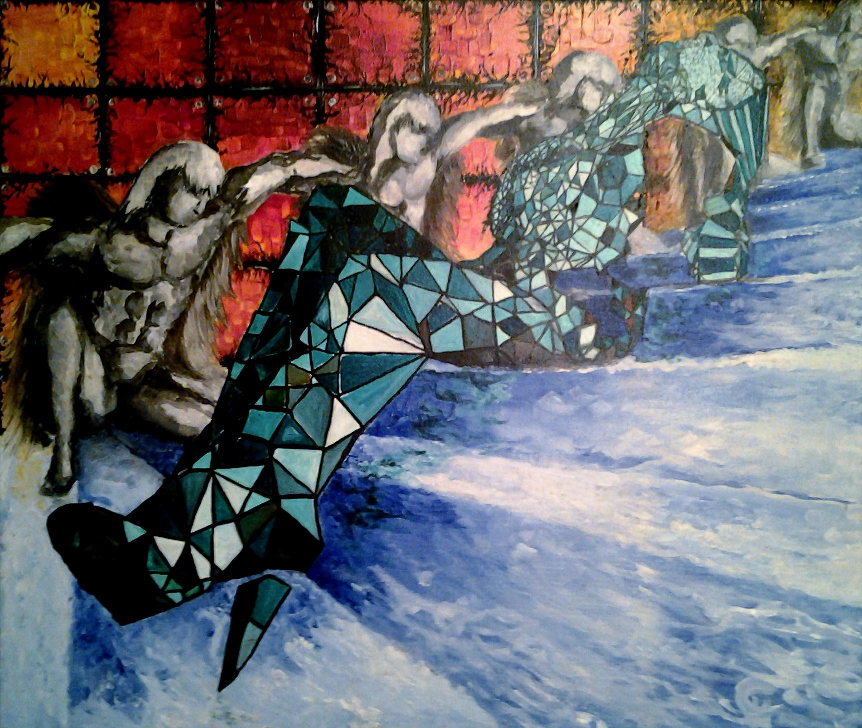 Роспись стены, роспись потолка, роспись стекла, имитация витража, фальшвитраж , художественная роспись