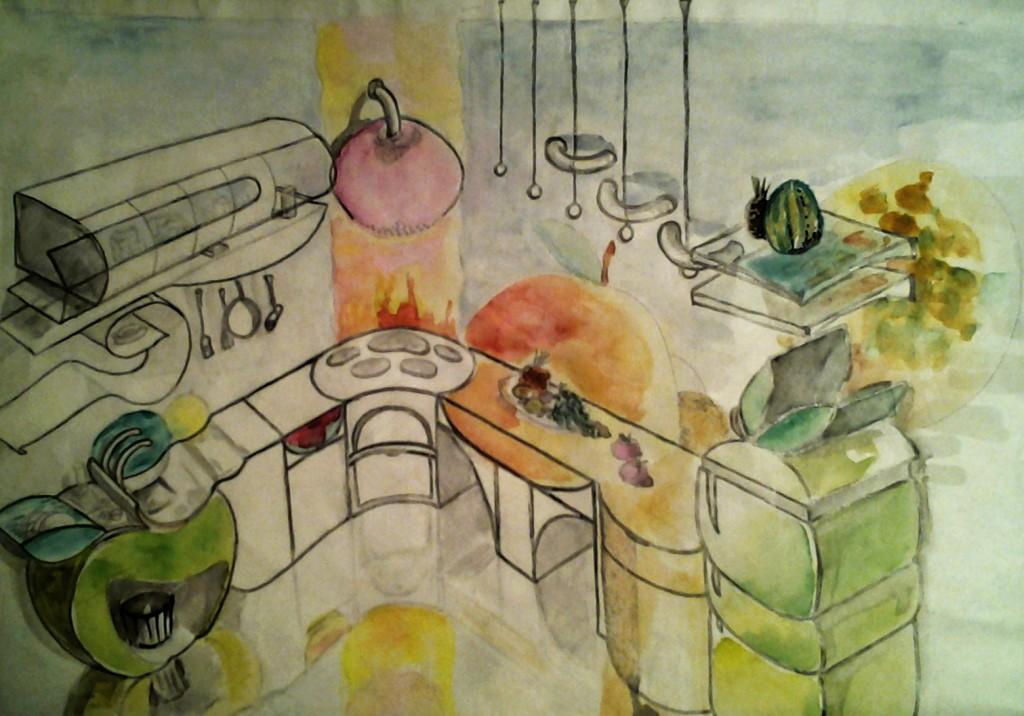 карандашом и красками визуализация