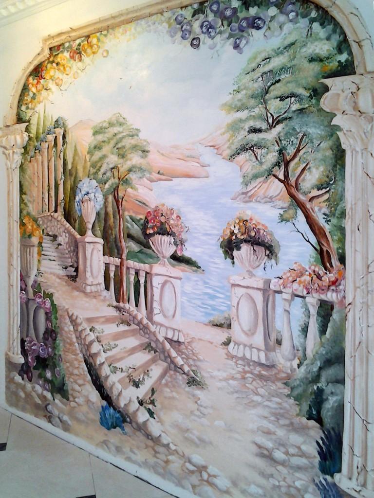 роспись красками в интерьере Одессы