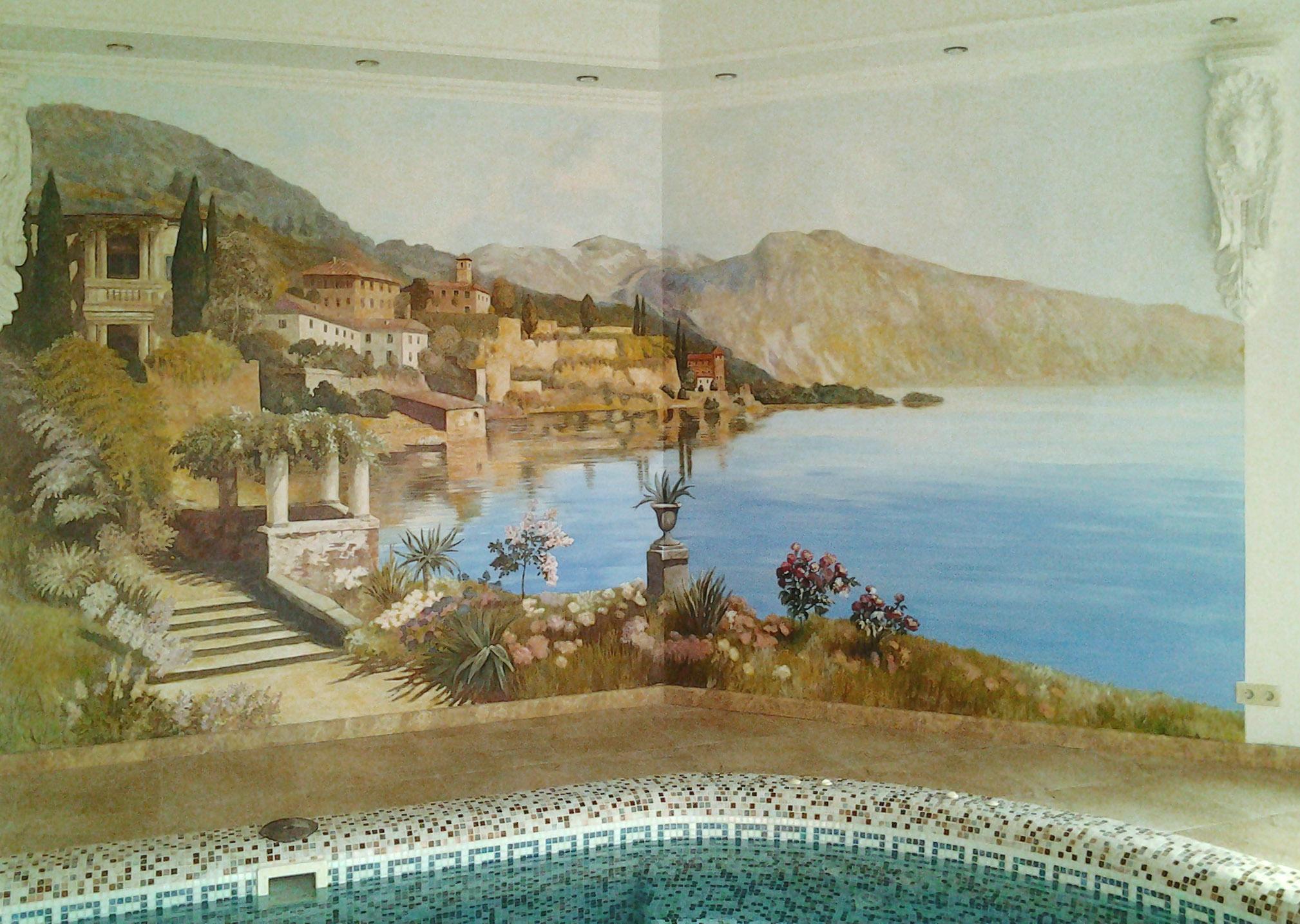 роспись стены в доме Одесса