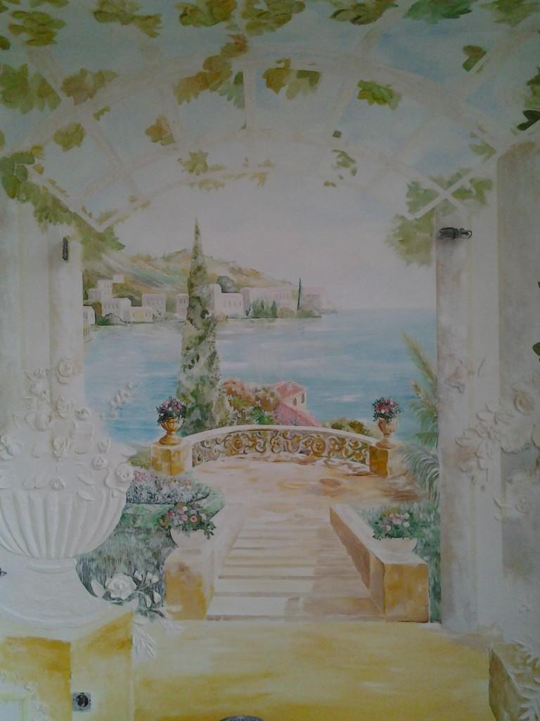 итальянский пейзаж на стене