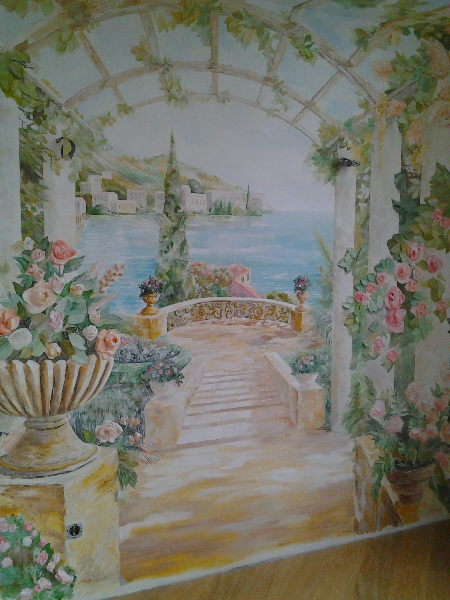картина на стене красками