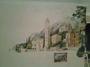 пейзаж на стене