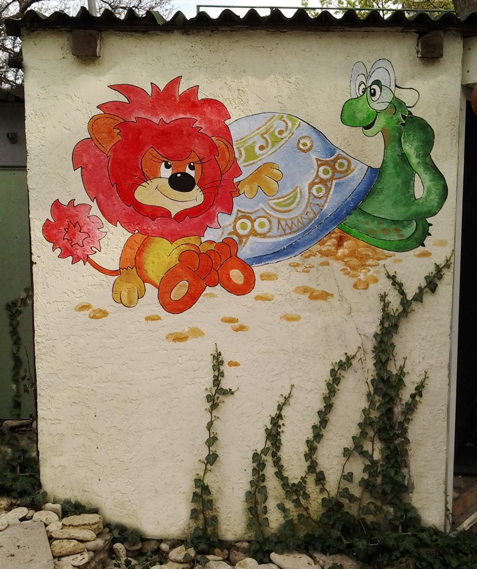 рисунок на фасаде