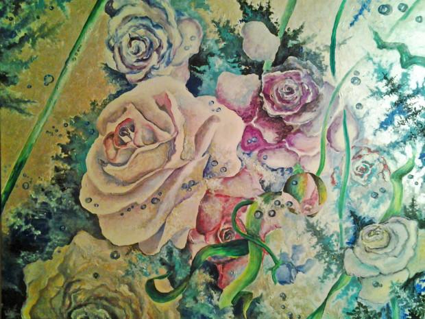 "Модерновая картина ""flowers"""