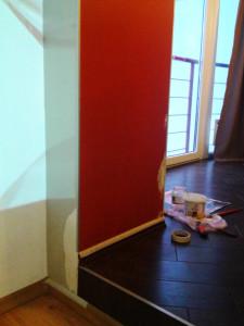Подготовительные этапы штукатурки проблематичных кусков для росписи стен
