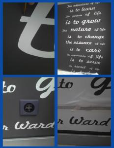 каллиграфия на стене